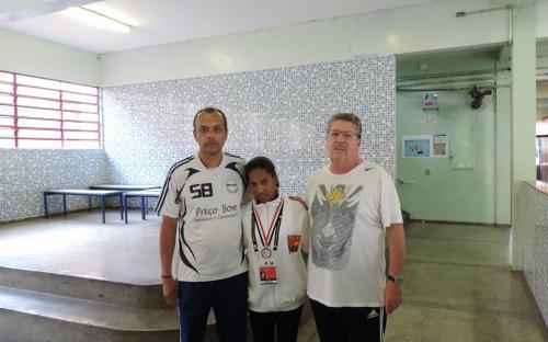 Jovem é a primeira mulher quilombola a receber medalhas em jogos regionais. Foto: Kauê Santos Silva/ADECC